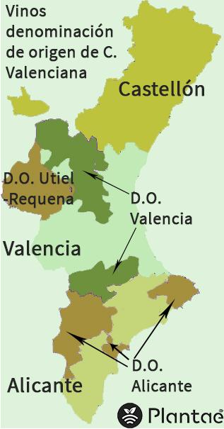 vinos de comunidad de Valencia