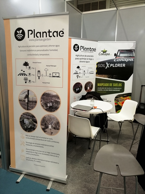 Stand de Plantae en Agrotecnológica en Valladolid-Agricultura de precisión