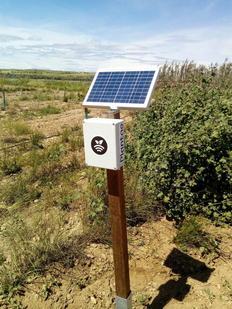 Hub para controlar sensores/sonda agrícolas para pistacho