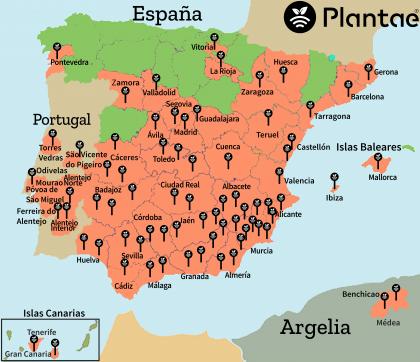 Plantae en España-10.000 sensores/sonda